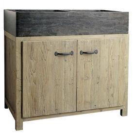 El ment bas evier 90 cm copenhague meuble de cuisine - Meuble cuisine maison du monde ...