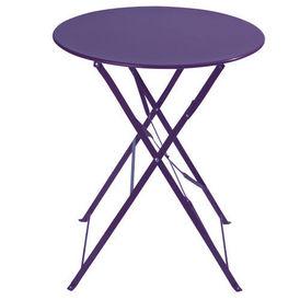 Table violet confetti table de jardin ronde maisons du monde for Maison du monde table jardin