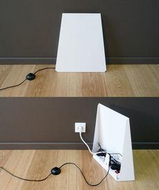 zeta cache prise cache prise blanc architectural acier. Black Bedroom Furniture Sets. Home Design Ideas