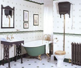 Victorian baignoire sur pieds t le maill e the bath - Petite baignoire sur pied ...