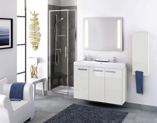 delphy studio 105 meuble de salle de bains blanc uni. Black Bedroom Furniture Sets. Home Design Ideas