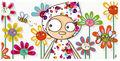 Tableau décoratif enfant-SERIE GOLO-Toile imprimée perlinpinpin 78x38cm