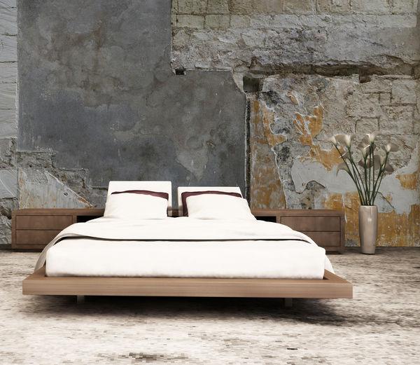mur brut 1 papier peint panoramique brun abstrait intiss. Black Bedroom Furniture Sets. Home Design Ideas