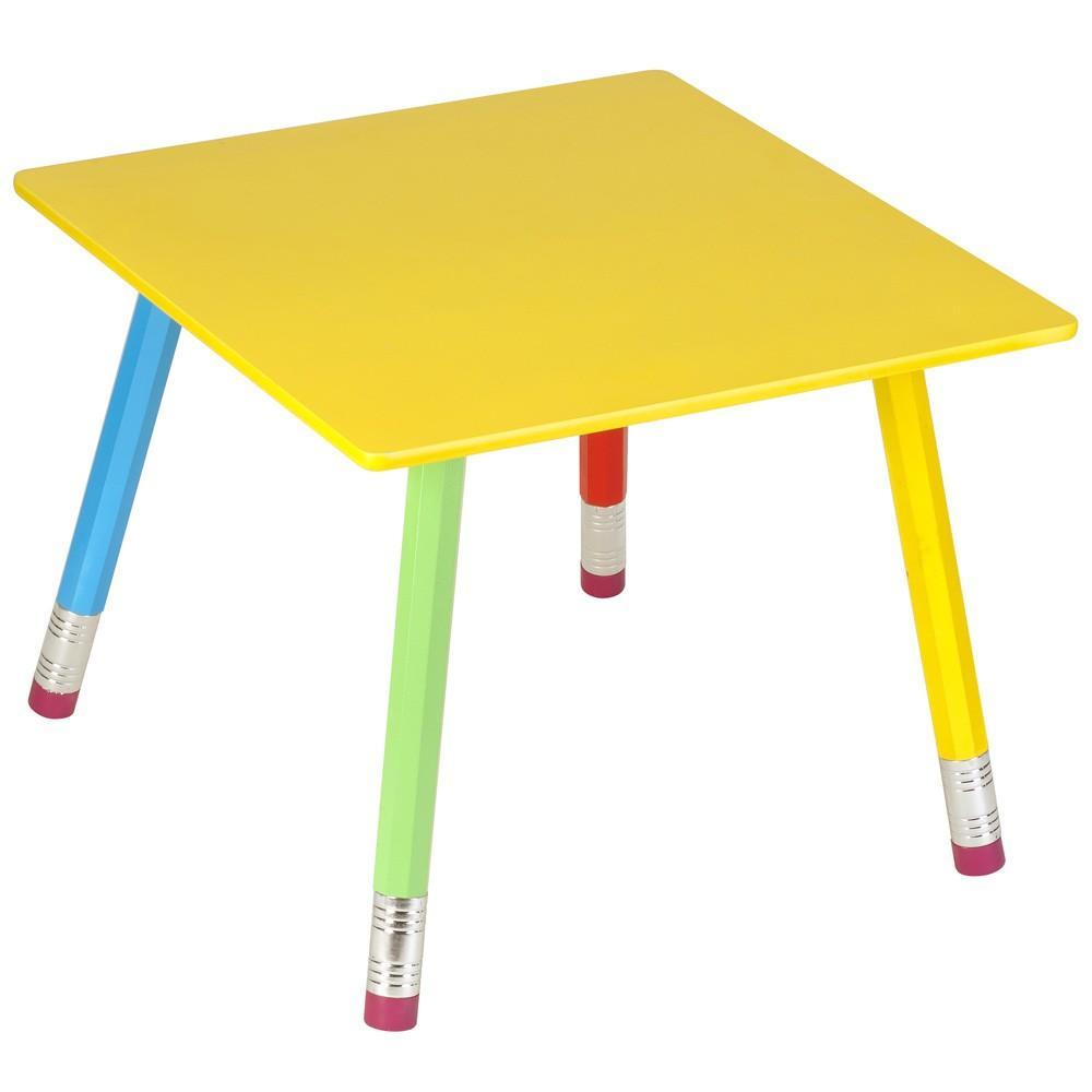 Table en bois crayons 55x55x43cm la chaise longue for Longue table en bois