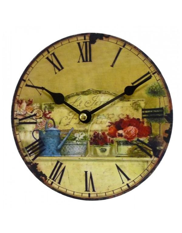 horloge murale mini jardin d 39 ete 16 5cm horloge murale. Black Bedroom Furniture Sets. Home Design Ideas