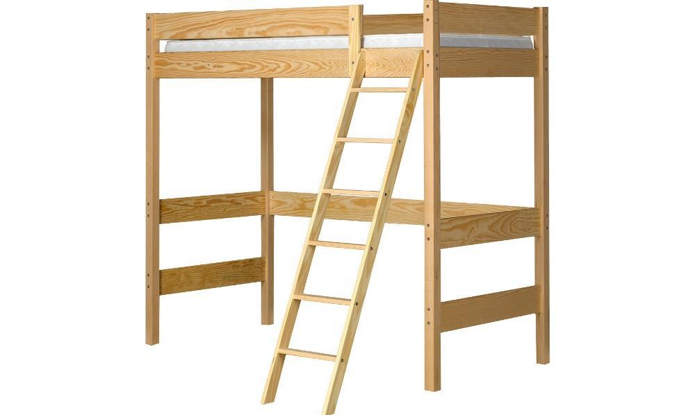 Lits adultes mezzanines lit mezzanine enfant naturel - Plan lit mezzanine en bois ...