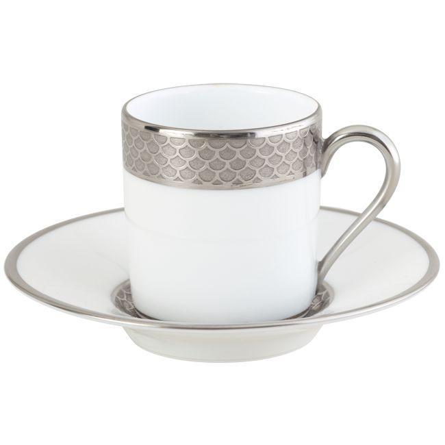 odyssee platine tasse caf blanc porcelaine. Black Bedroom Furniture Sets. Home Design Ideas