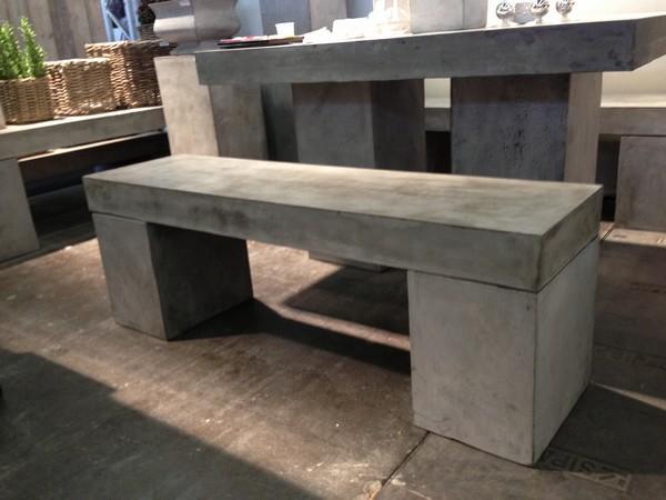 banc beton massif 130 banc mathi design decofinder. Black Bedroom Furniture Sets. Home Design Ideas