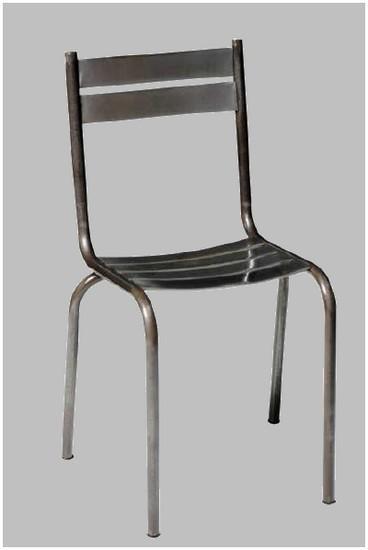chaise acier brosse pritty chaise mathi design decofinder. Black Bedroom Furniture Sets. Home Design Ideas