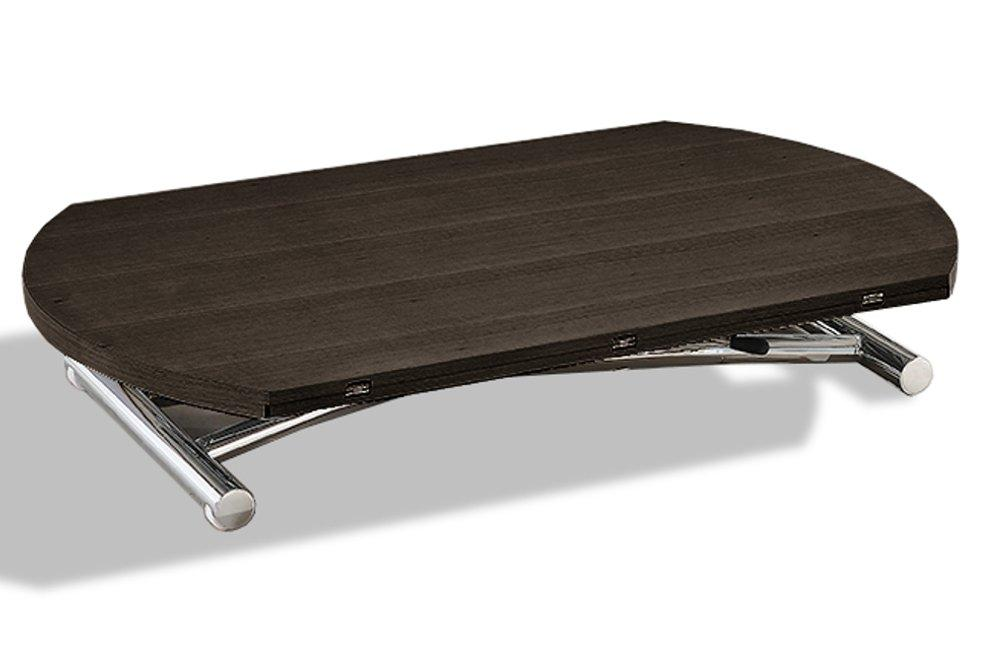 Table basse ronde relevable et extensible planet w table Table basse ronde relevable