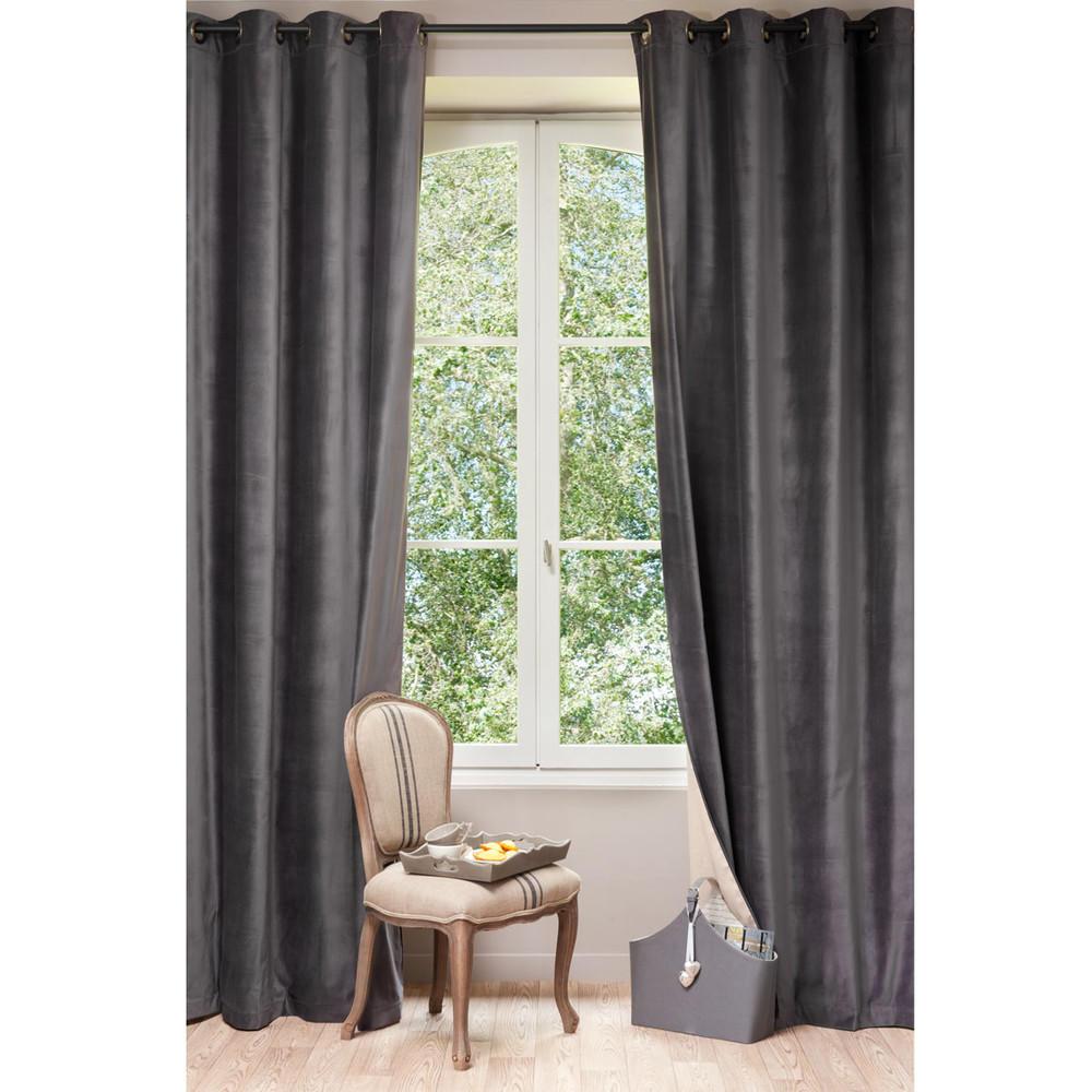 c rideaux oeillets maisons du monde decofinder. Black Bedroom Furniture Sets. Home Design Ideas