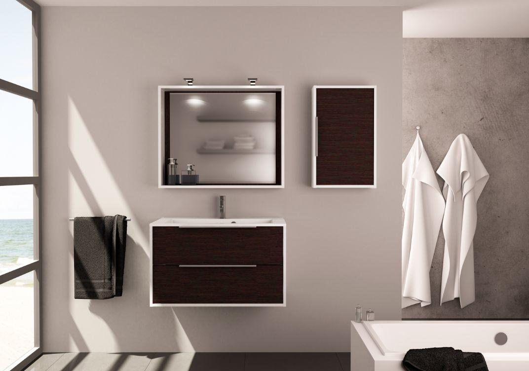 edge meuble de salle de bains brun allibert decofinder. Black Bedroom Furniture Sets. Home Design Ideas