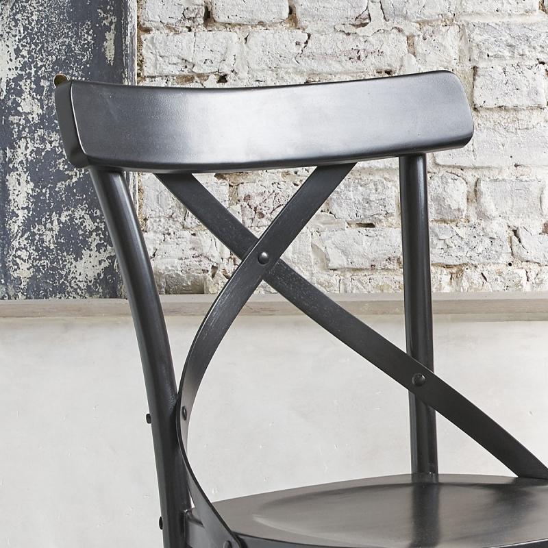 chaise bistrot en bois d 39 acajou londres noire chaise. Black Bedroom Furniture Sets. Home Design Ideas