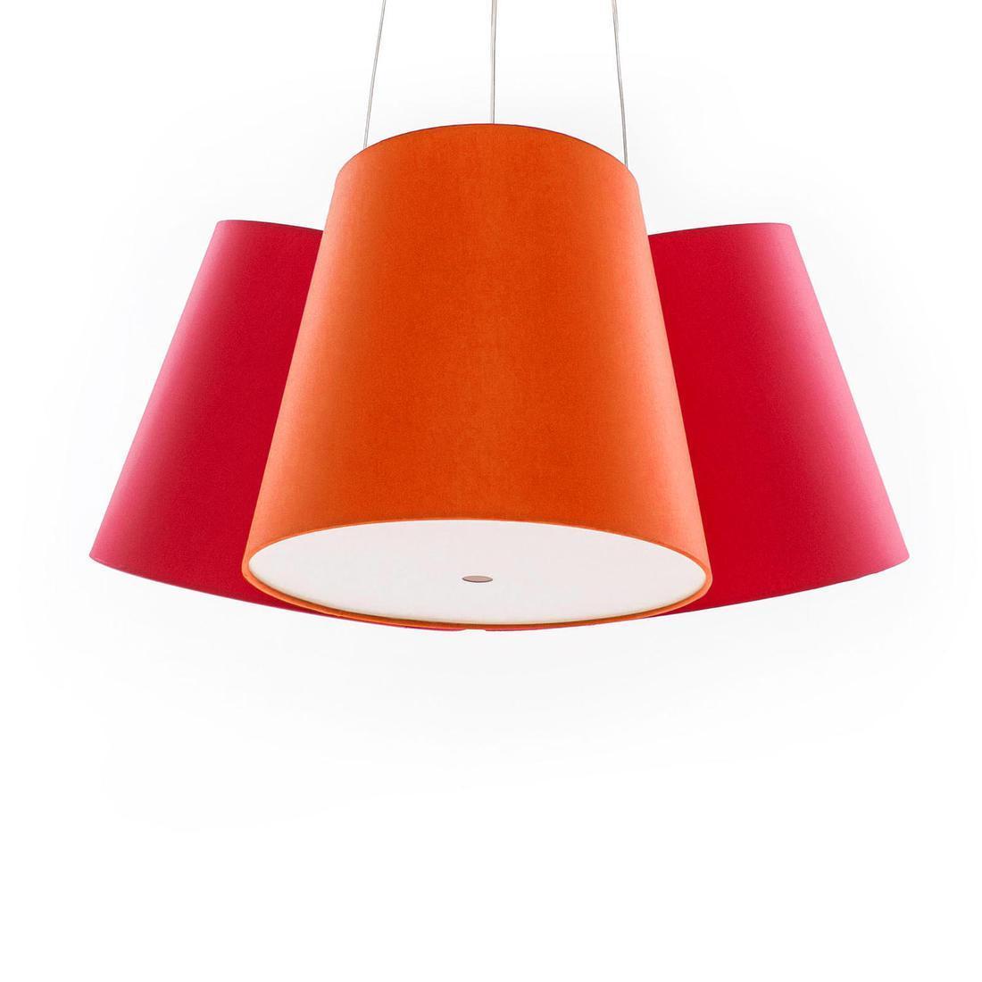 cluster suspension multicolore grand abat jour h 30cm et. Black Bedroom Furniture Sets. Home Design Ideas