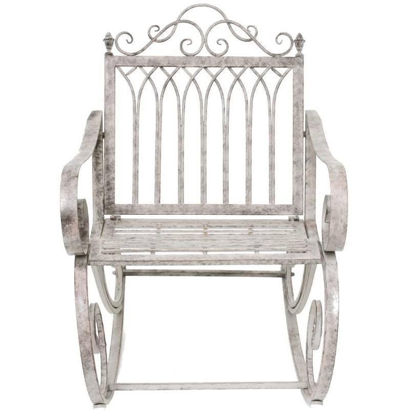 Fauteuil banc rocking chair en fer de jardin 95 cm for Jardin 95