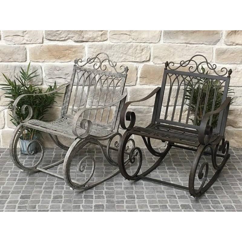 fauteuil banc rocking chair en fer de jardin 95 cm rocking chair. Black Bedroom Furniture Sets. Home Design Ideas