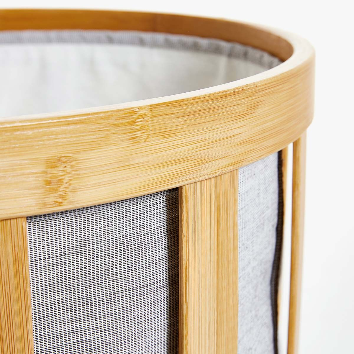 Accessoires Salle De Bain Zara Home ~ panier linge bambou tissu int rieur panier linge gris clair