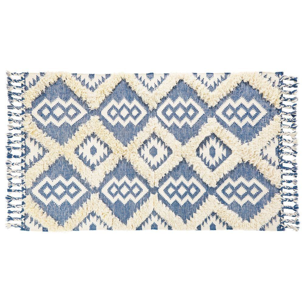 Tapis Berbere Motifs Bleus 160x230tapis Contemporain Bleu