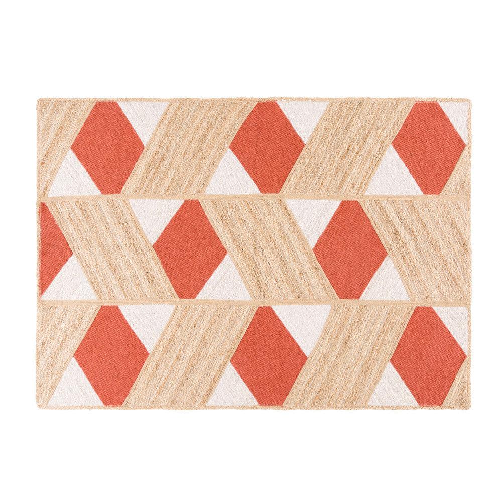 dirt cheap best authentic pretty nice Tapis en jute motifs graphiques 140x200Tapis contemporain ...