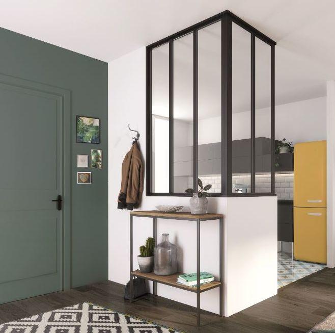 en verre cloison de s paration transparent verre. Black Bedroom Furniture Sets. Home Design Ideas