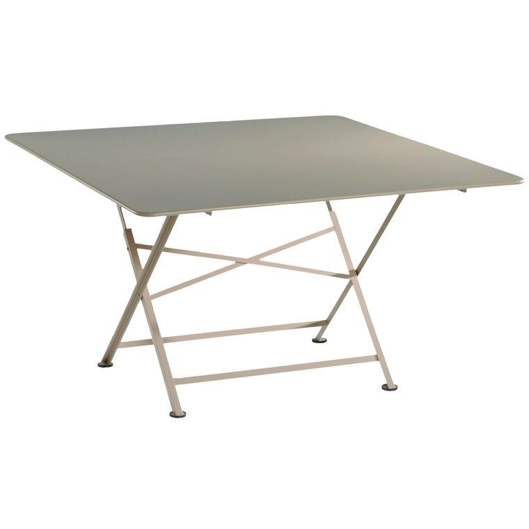 Table pliante carrée couleur Muscade L 128 x l 128 x H 74 ...
