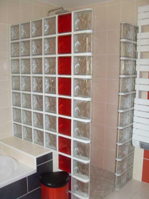 brillie brique de verre rose verre rouviere collection. Black Bedroom Furniture Sets. Home Design Ideas