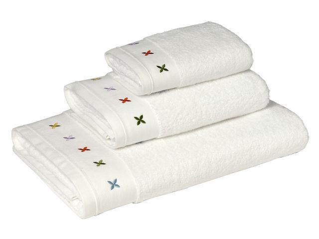 BLANC CERISE - Serviette de toilette-BLANC CERISE-Drap de bain - coton peigné 600 g/m² - brodé