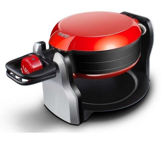 YOO DIGITAL - Gaufrier électrique-YOO DIGITAL-Gaufrier Bakeyoo 180 - rouge