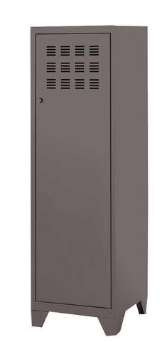 PHSA - Armoire-dressing-PHSA-Armoire 1 porte en métal taupe 40x40x134cm