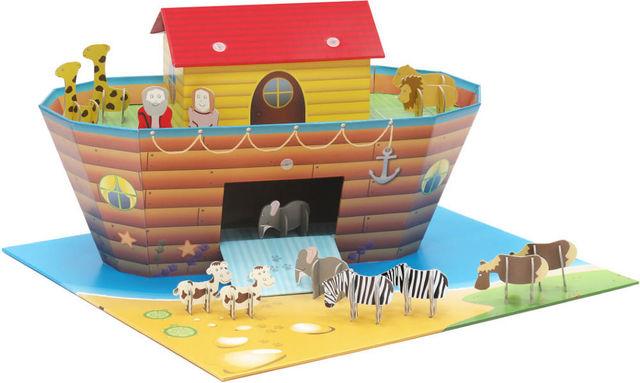 EXKLUSIVES FUR KIDS - Maison enfant-EXKLUSIVES FUR KIDS-Arche de noé en carton recyclé 64x59x35cm