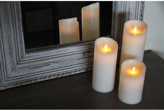 Aubry-Gaspard - Bougie LED-Aubry-Gaspard-Bougie à LED oscillante en Cire véritable 9,5x23cm