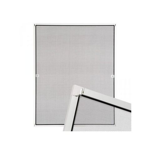 WHITE LABEL - Moustiquaire de fenêtre-WHITE LABEL-Moustiquaire pour fenêtre cadre fixe en aluminium 130x150 cm blanc