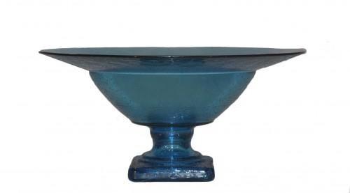 Demeure et Jardin - Coupe à fruits-Demeure et Jardin-Coupe à Fruits en verre bleu turquoise