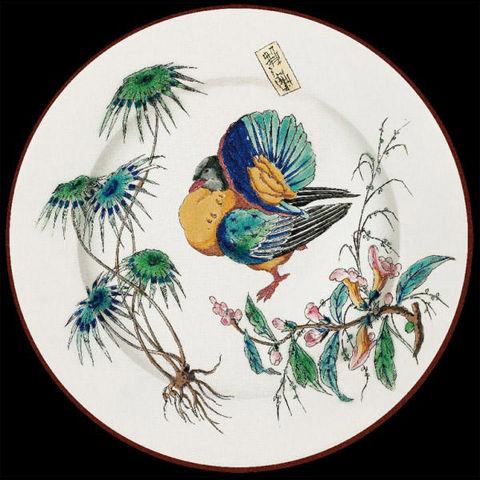 Au Bain Marie - Assiette décorative-Au Bain Marie-Assiette décorative en tôle Vieillard Dindon