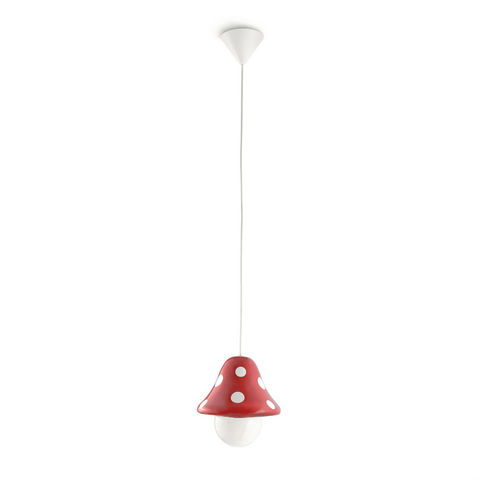 Philips - Suspension Enfant-Philips-BOLETU - Suspension Champignon Rouge Ø19,6cm | Lus