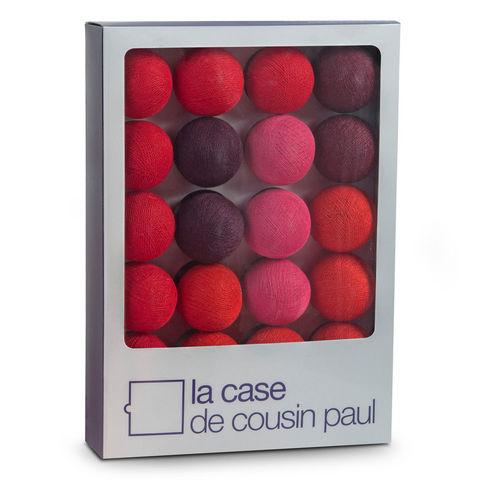 LA CASE DE COUSIN PAUL - Guirlande lumineuse-LA CASE DE COUSIN PAUL-ATACAMA - Coffret Guirlande lumineuse Rouge/Violet