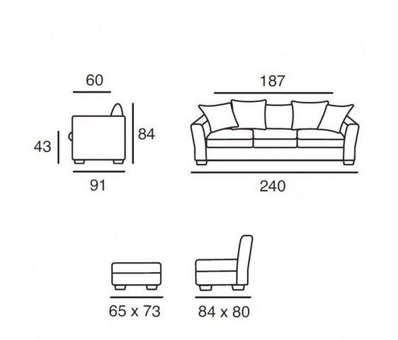 Home Spirit - Canapé modulable-Home Spirit-Canapé d'angle fixe WATSON tissu tweed naturel