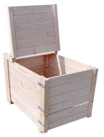 Sauvegarde58 - Bac à compost-Sauvegarde58-Composteur 350 litres en Pin traité 75x72x82cm