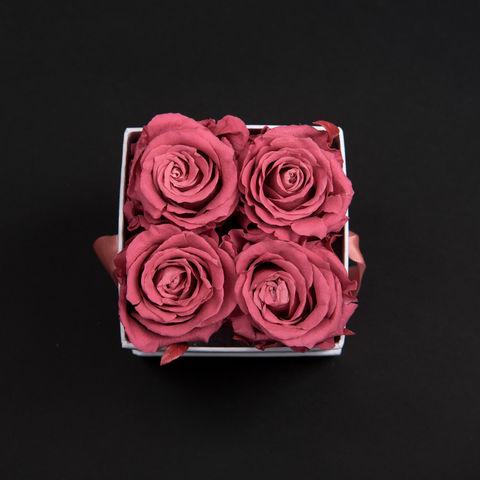 Atelier 19 - Fleur stabilisée-Atelier 19-Box clasic 4 roses bois de rose