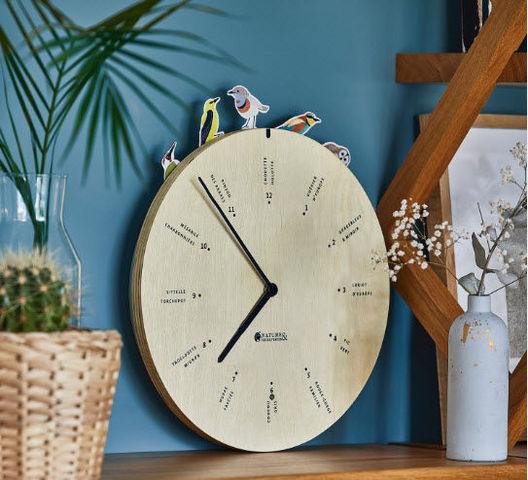 Nature & Découvertes - Horloge murale-Nature & Découvertes-Chants d'oiseau