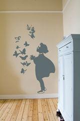 ApplePie Design - Sticker Décor adhésif Enfant-ApplePie Design-Girl and butterflys