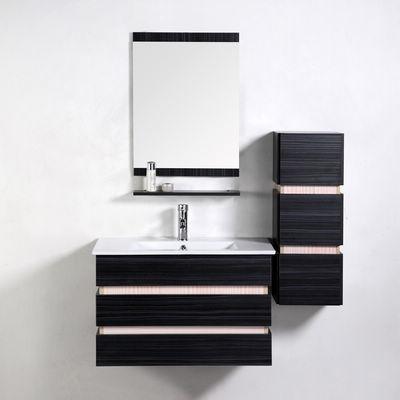 UsiRama.com - Meuble de salle de bains-UsiRama.com-Meuble Salle de bain en Chêne Massif STRATUM 80cm