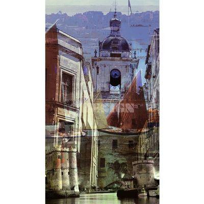Magel'design - Tableau contemporain-Magel'design-La Rochelle 90x160 cm , 3D effet relief