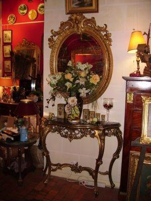 Art & Antiques - Console-Art & Antiques-Console Louis XV en bois doré  fin XIXe