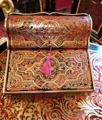 Art & Antiques - Ecritoire-Art & Antiques-Ecritoire / Porte Lettres important en marqueterie
