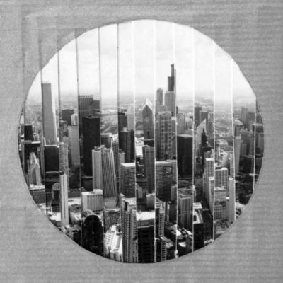 JOHANNA L COLLAGES - Tableau contemporain-JOHANNA L COLLAGES-Windy City : vue panoramique 1