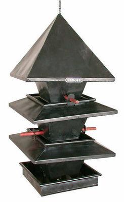 ZOLUX - Maison d'oiseau-ZOLUX-Mangeoire à suspendre 3 étages pagode en métal 27x
