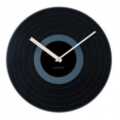 Karlsson Clocks - Horloge murale-Karlsson Clocks-Karlsson - Horloge Record Black - Karlsson - Noir