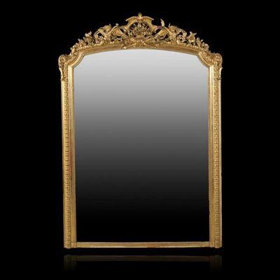 Expertissim - Miroir-Expertissim-Important miroir d'époque Napoléon III