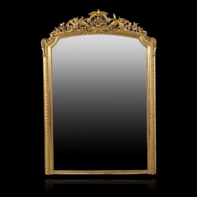 Expertissim - Miroir-Expertissim-Important miroir d'�poque Napol�on III